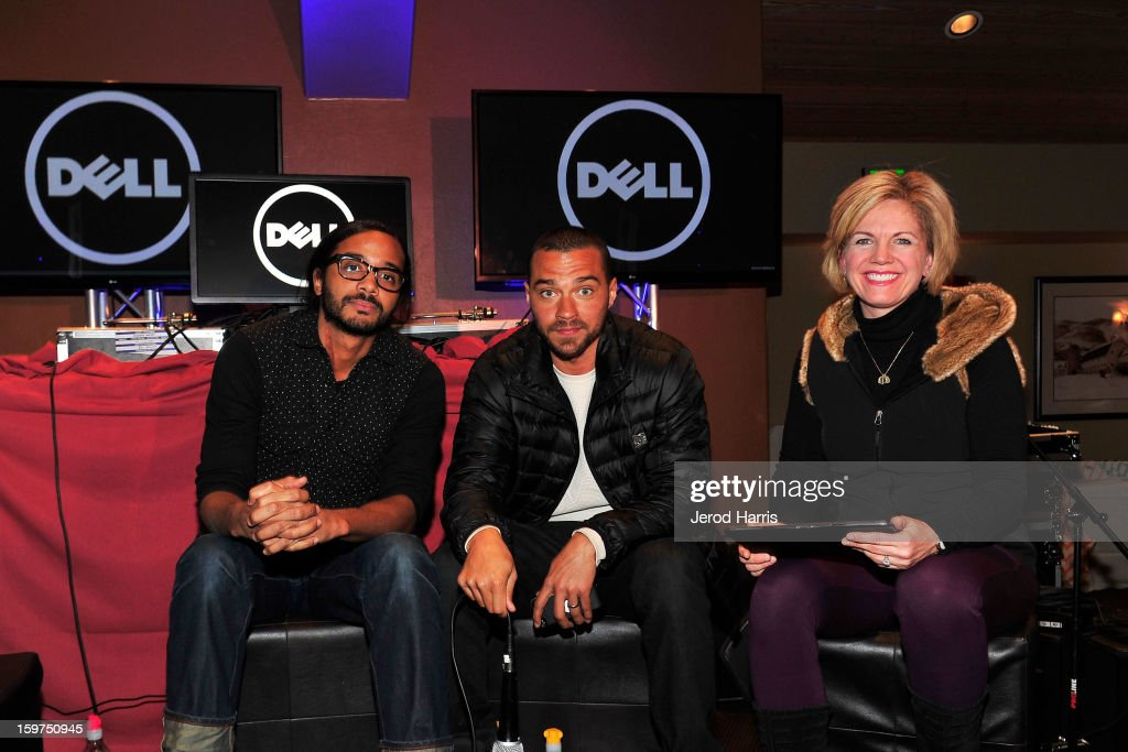 Andres Des Rochers, Jesse Williams and DELL SMB of Global Communications Jennifer 'JJ' Davis participate in a Google + Hangout at the DELL #Inspire 100 Lounge on January 19, 2013 in Park City, Utah.