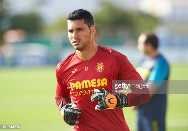 Andres Fernandez during the first week of Villarreal CF training session at Ciudad Deportiva of Miralcamp July 14 in Vilareal Spain