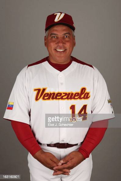Andres Galarraga of Team Venezuela poses for a headshot for the 2013 World Baseball Classic at Roger Dean Stadium on Monday March 4 2013 in Jupiter...