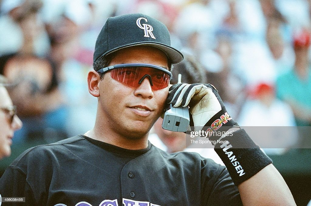 Andres Galarraga of the Colorado Rockies during the 1993 AllStar Game on July 13 1993 at Oriole Park at Camden Yards in Baltimore Maryland