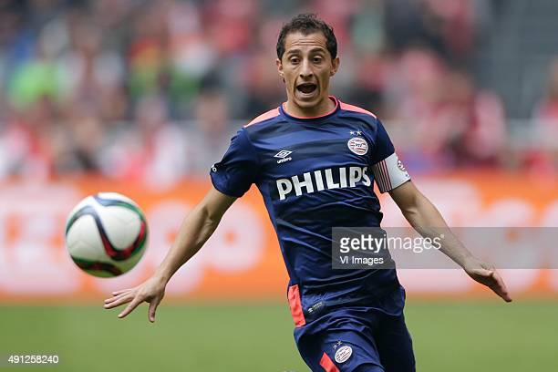 Andres Guardado of PSV during the Dutch Eredivisie match between Ajax Amsterdam and PSV Eindhoven at the Amsterdam Arena on October 4 2015 in...
