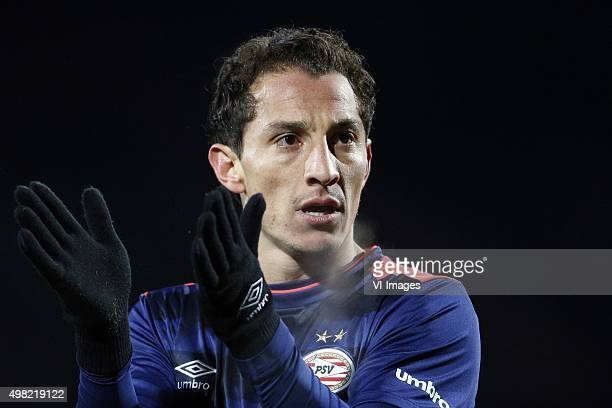 Andres Guardado of PSV during the Dutch Eredivisie match between Willem II Tilburg and PSV Eindhoven at Koning Willem II stadium on November 21 2015...