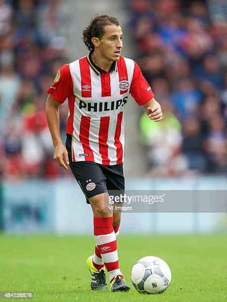 Andres Guardado of PSV during the Dutch Eredivisie match between PSV Eindhoven and FC Groningen at the Phillips stadium on August 16 2015 in...
