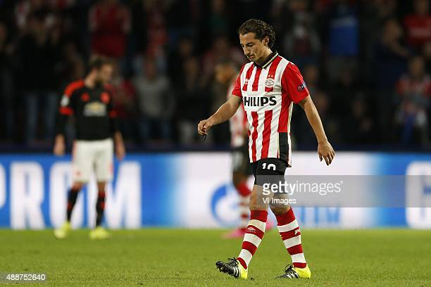 Andres Guardado of PSV during the UEFA Champions League group B match between PSV Eindhoven and Manchester United on September 15 2015 at the Philips...