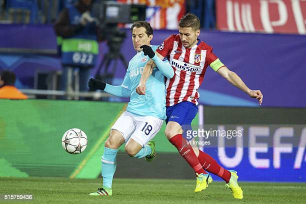 Andres Guardado of PSV Gabi of Club Atletico de Madrid during the UEFA Champions League Round of 16 Second leg match between Atletico madrid and PSV...