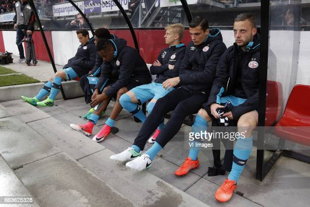 Andres Guardado of PSV Steven Bergwijn of PSV Joshua Brenet of PSV Joshua Brenet of PSV Olexandr Zinchenko of PSV Menno Koch of PSV Bart Ramselaar of...