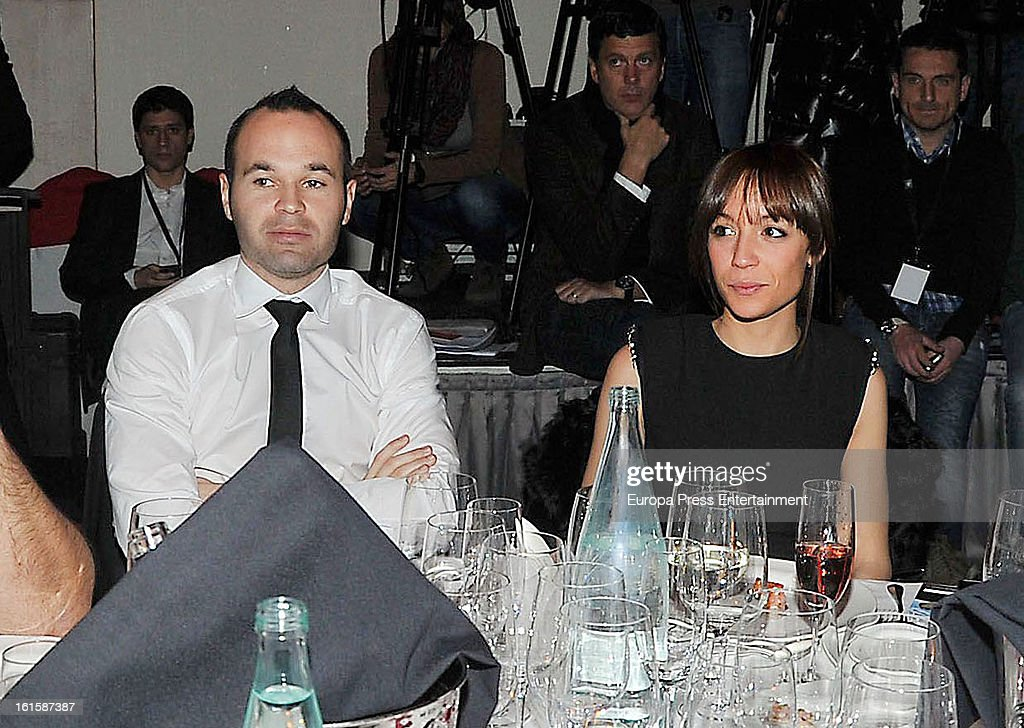 Andres Iniesta and Anna Ortiz attend the Sport Annual Gala In Barcelona at palau de Congresos on February 11, 2013 in Barcelona, Spain.