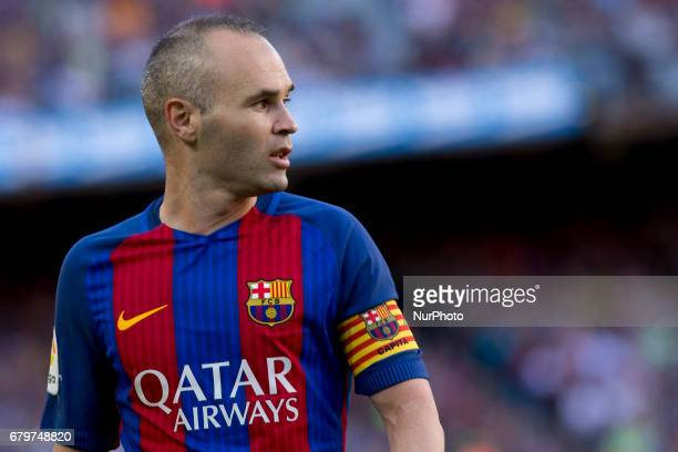 Andres Iniesta during the spanish football league match against Villarreal at the Camp Nou Stadium on May 6 2017