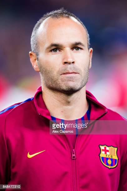 Andres Iniesta of FC Barcelona looks on before the UEFA Champions League group D match between FC Barcelona and Juventus at Camp Nou on September 12...