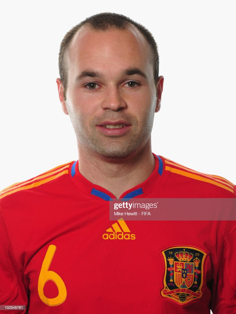 Andres Iniesta of Spain poses during the official Fifa World Cup 2010 portrait session on June - andres-iniesta-of-spain-poses-during-the-official-fifa-world-cup-2010-picture-id102045761