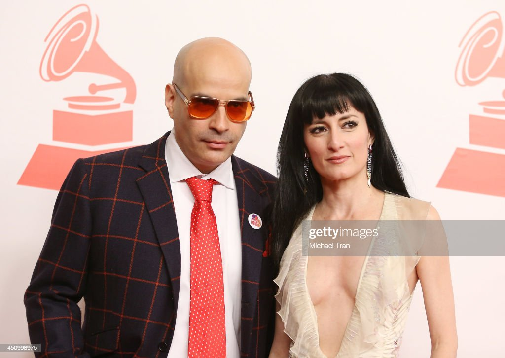 Andres Levin and Cucu Diamantes arrive at the 2013 Latin Recording Academy Person of the Year honoring Miguel Bose held at Mandalay Bay Resort and Casino on November 20, 2013 in Las Vegas, Nevada.
