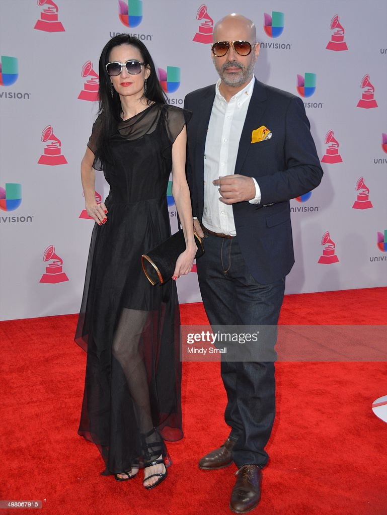 Andres Levin (R) and <a gi-track='captionPersonalityLinkClicked' href=/galleries/search?phrase=CuCu+Diamantes&family=editorial&specificpeople=4032728 ng-click='$event.stopPropagation()'>CuCu Diamantes</a> attend the 16th Latin GRAMMY Awards at the MGM Grand Garden Arena on November 19, 2015 in Las Vegas, Nevada.