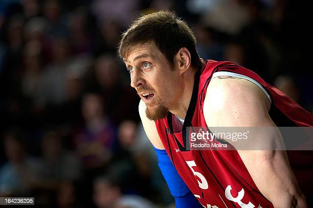 Andres Nocioni #5 of Caja Laboral Vitoria in action during the 20122013 Turkish Airlines Euroleague Top 16 Date 12 between FC Barcelona Regal v Caja...