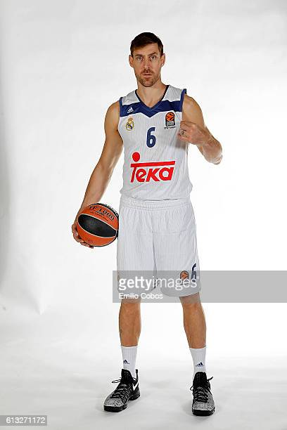 Andres Nocioni #6 of Real Madrid poses during the 2016/2017 Turkish Airlines EuroLeague Media Day at Barclaycard Center on October 04 2016 in Madrid...