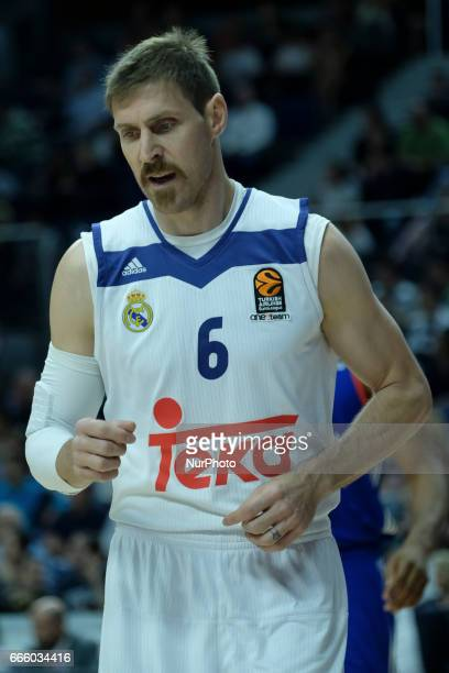 Andres Nocioni of Real Madrid during the 2016/2017 Turkish Airlines Euroleague Regular Season Round 30 game between Real Madrid and Anadolu Efes...