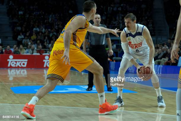 Andres Nocioni of Real madrid during their Herbalife Gan Canaria vs Real Madrid Spanish ACB League match played at Sports Palace in Madrid 26...