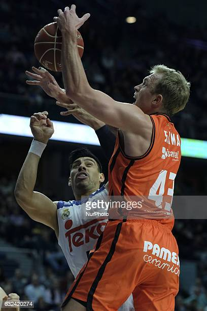Andres Nocioni of Real Madrid in action during Real Madrid vs Valencia Basket's Liga ACB match at the Sports Palace in Madrid Spain 22 January 2017