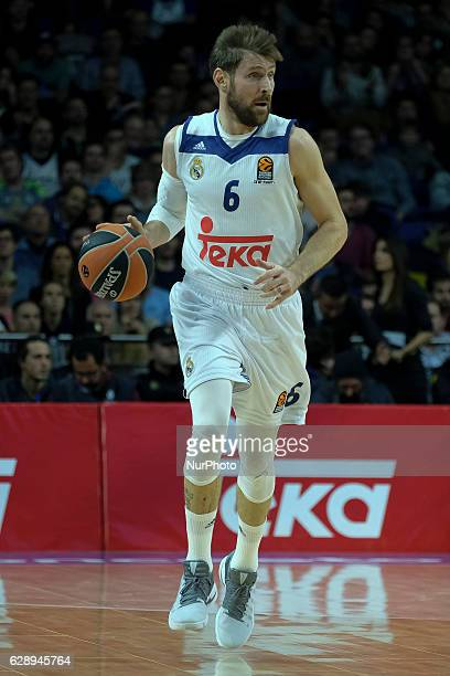 Andres Nocioni of Real Madrid in action during the 2016/2017 Turkish Airlines EuroLeague Regular Season Round 11 game between Real Madrid v Zalgiris...