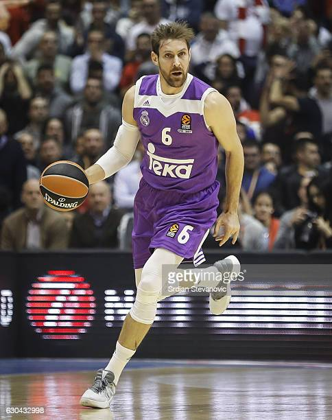 Andres Nocioni of Real Madrid in action during the 2016/2017 Turkish Airlines EuroLeague Regular Season Round 14 game between Crvena Zvezda MTS...