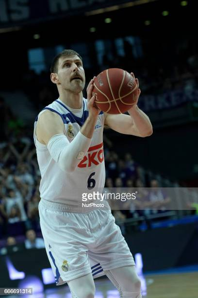 Andres Nocioni of Real Madrid in action during the match Between Real Madrid against Baskonia ofLiga ACB 28th at the Sports Palace in Madrid Spain 09...