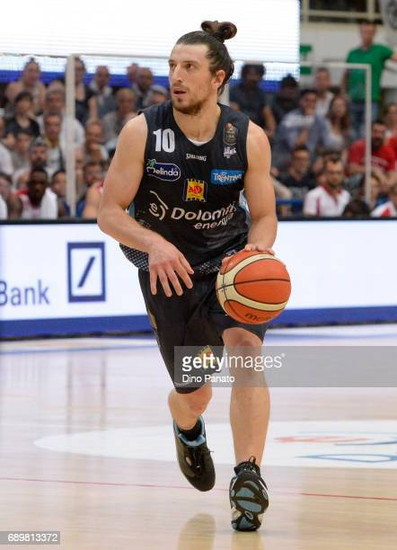 Andres Pablo Toto Forray of Dolomiti Energia Trentino handles the ball against during LegaBasket Serie A Playoffs match 3 beetwen Dolomiti Energia...