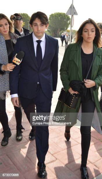 Andres Palomo Danko attends the funeral chapel for the bullfighter Sebastian Palomo Linares on April 25 2017 in Madrid Spain