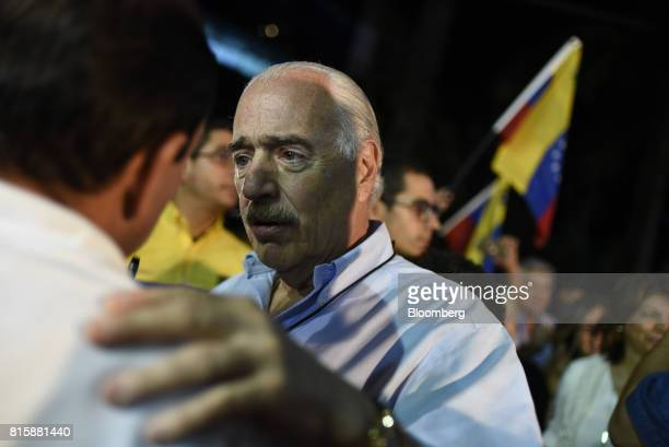 Andres Pastrana former president of Colombia attends the symbolic Venezuelan plebiscite in Caracas Venezuela on Sunday July 16 2017 Millions of...
