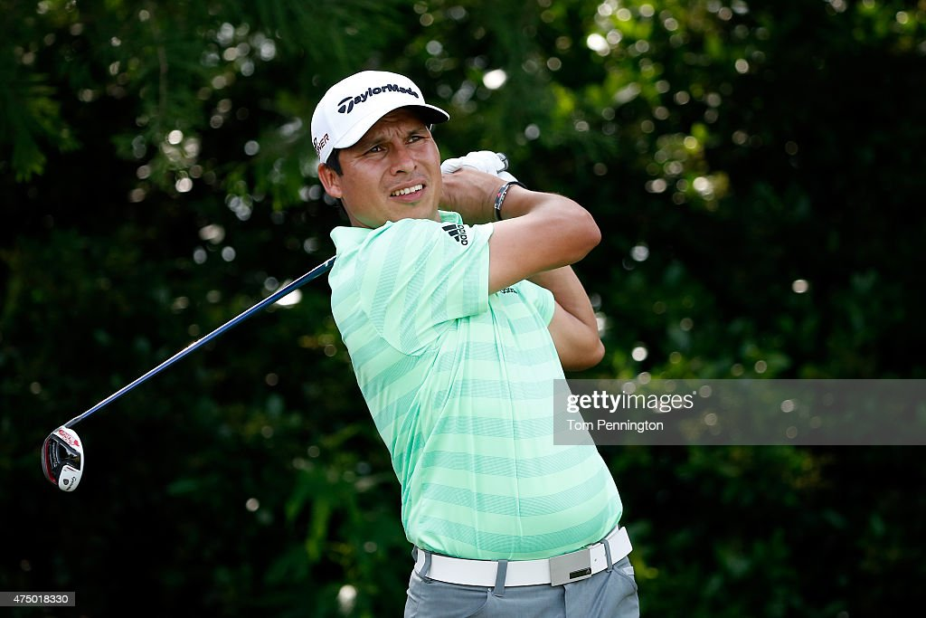 Andres Romero hits his tee shot on the fourth hole during Round One of the ATT Byron Nelson at the TPC Four Seasons Resort Las Colinas on May 28 2015...
