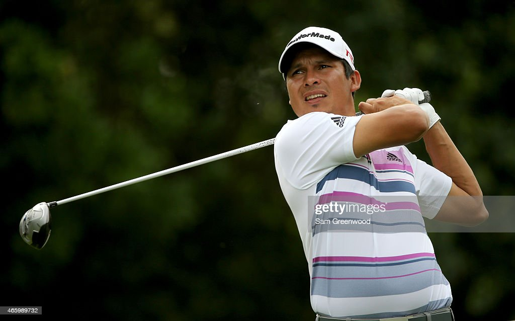 Andres Romero of Argentina hits off the ninth tee during the first round of the Valspar Championship at Innisbrook Resort Copperhead Course on March...