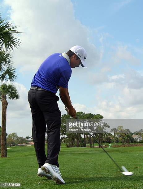 Andres Romero of Argentina plays a shot during practice prior to the start of the Honda Classic at PGA National Resort and Spa on February 25 2014 in...