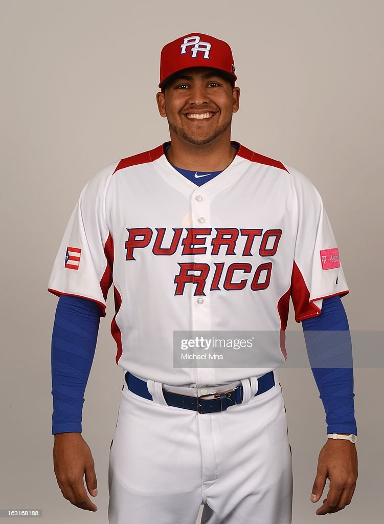 Andres Santiago #53 of Team Puerto Rico poses for a headshot for the 2013 World Baseball Classic at the City of Palms Baseball Complex on Monday, March 4, 2013 in Fort Myers, Florida.