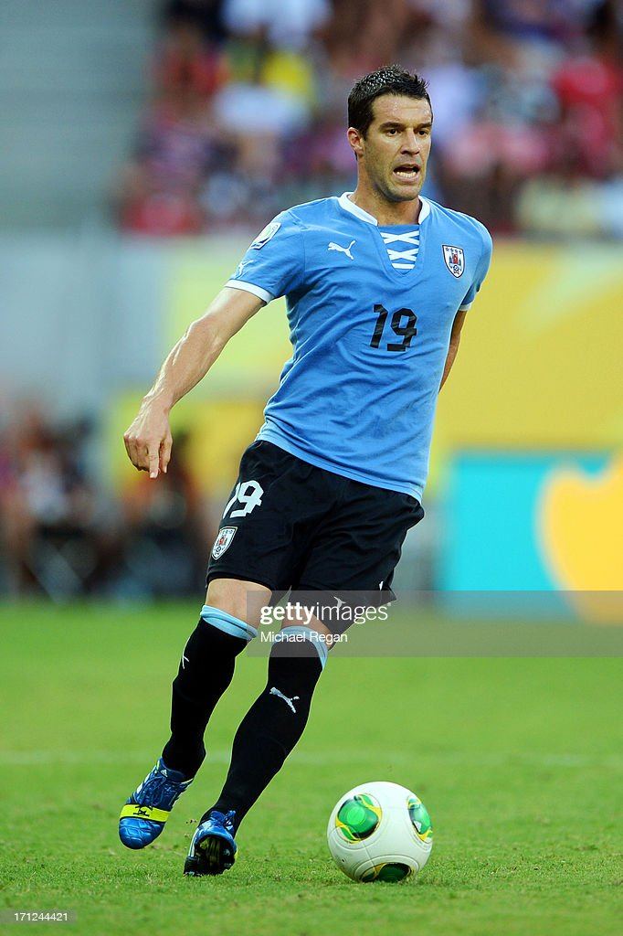 Andres Scotti of Uruguay during the FIFA Confederations Cup Brazil 2013 Group B match between Uruguay and Tahiti at Arena Pernambuco on June 22 2013...