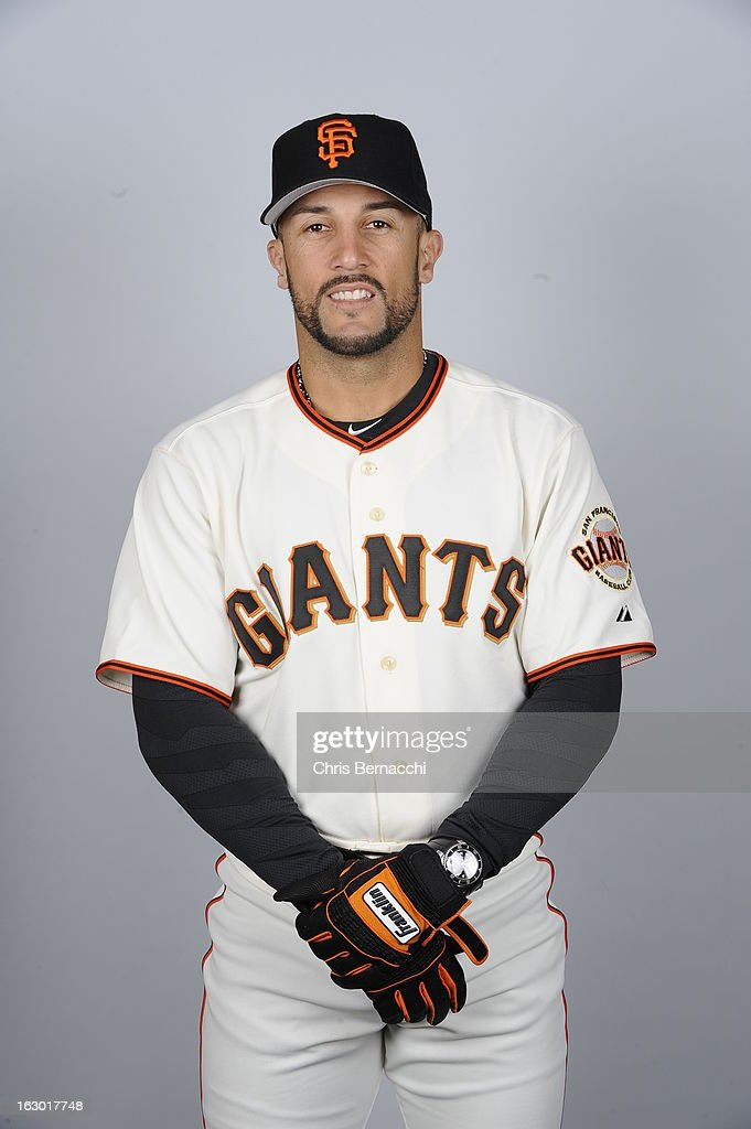 Andres Torres of the San Francisco Giants poses during Photo Day on February 20 2013 at Scottsdale Stadium in Scottsdale Arizona