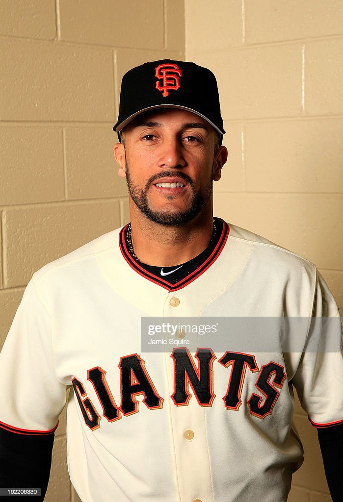 Andres Torres poses for a portrait during San Francisco Giants Photo Day on February 20 2013 in Scottsdale Arizona