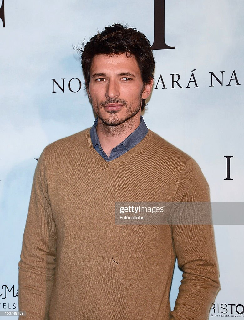 Andres Velencoso attends a photocall for 'Fin' at the Room Mate Oscar Hotel on November 20, 2012 in Madrid, Spain.