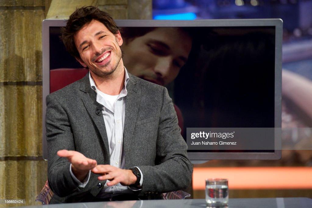 Andres Velencoso attends 'El Hormiguero' Tv show at Vertice Studio on November 22, 2012 in Madrid, Spain.