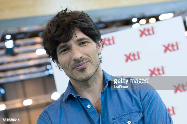 Andres Velencoso presents the new Xti collection in the September edition of MOMAD SHOES on September 22 2017 in Madrid Spain