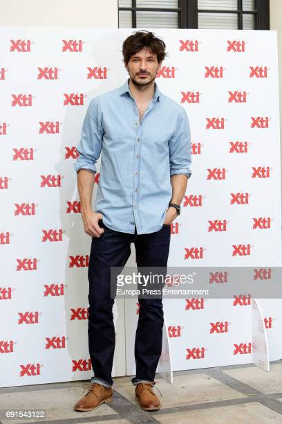 Andres Velencoso presents 'Xti' 2017 shoes Summer New Collection on June 2 2017 in Madrid Spain