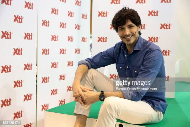 Andres Velencoso presents Xti collection during Momad Shoes at Ifema on September 22 2017 in Madrid Spain