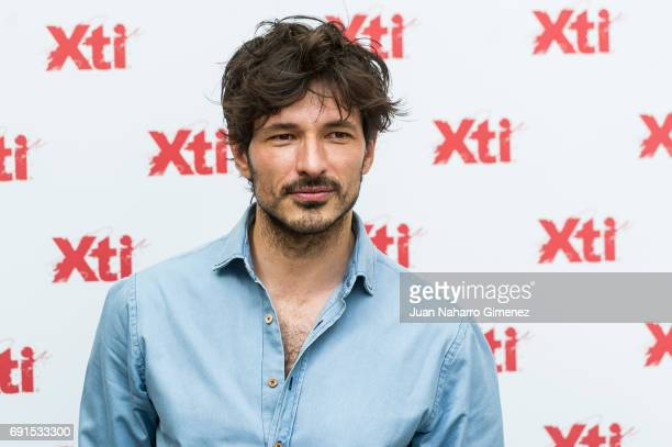 Andres Velencoso presents Xti shoes 2017 summer collection at the Only You Hotel on June 2 2017 in Madrid Spain