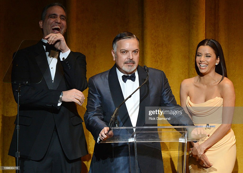 Andres W. Lopez, Henry Munoz III and Eva Longoria speak at Latino Inaugural 2013: In Performance at Kennedy Center at The Kennedy Center on January 20, 2013 in Washington, DC.