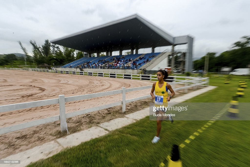 Andressa Ramos of Brazil competes in the Women's Pentathlon during the Modern Pentathlon World Cup Series 2013 at Complexo Deodoro on March 20, 2013 in Rio de Janeiro, Brazil.
