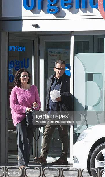 Andreu Buenafuente and Silvia Abril are seen on March 11 2016 in Madrid Spain