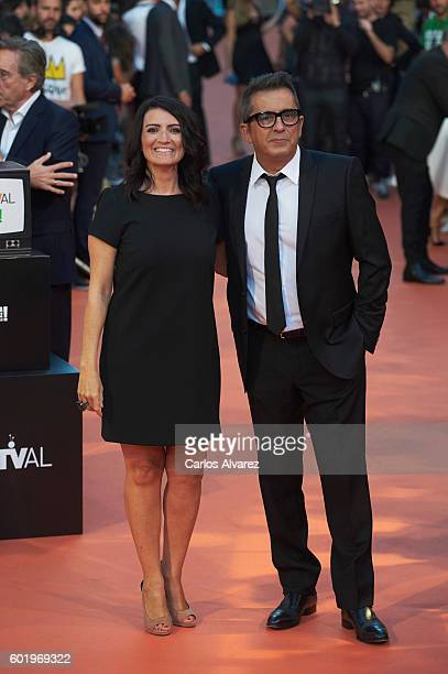 Andreu Buenafuente and Silvia Abril attend FesTVal 2016 Television Festival close ceremony at Principal Teather on September 10 2016 in...