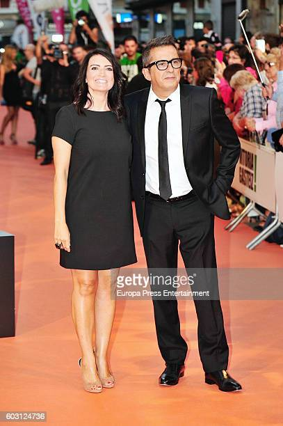 Andreu Buenafuente and Silvia Abril attend red carpet closing day during FesTVal 2016 Televison Festival on September 10 2016 in VitoriaGasteiz Spain
