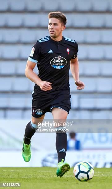 Andreu Fontas of Celta de Vigo runs with the ball during the preseason friendly match between Celta de Vigo and Racing de Ferrol at A Malata Stadium...