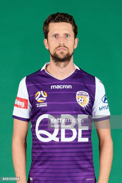 Andreu poses during the Perth Glory 2017/18 ALeague season headshots session on September 15 2017 in Perth Australia