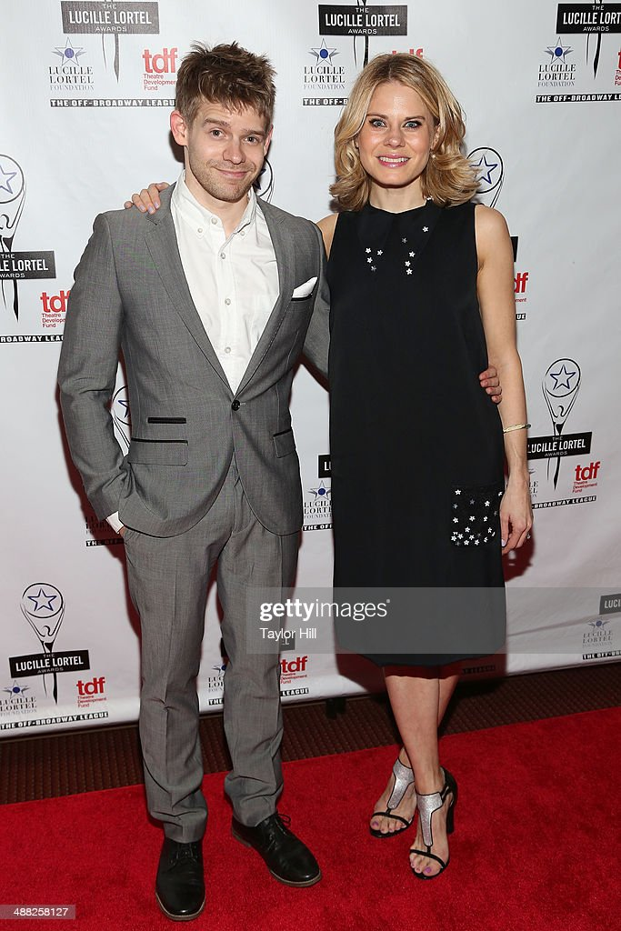 Andrew and Celia Keenan-Bolger attend the 29th Annual Lucille Lortel Awards at NYU Skirball Center on May 4, 2014 in New York City.