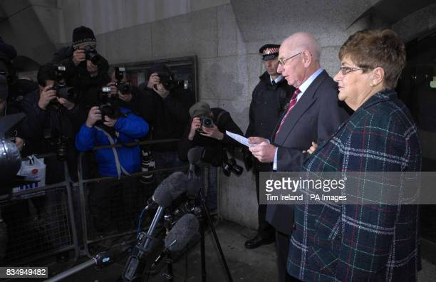 Andrew and Monica Nickell parents of Rachel Nickell speak to the media outside the Old Bailey in London after convicted sex killer Robert Napper...