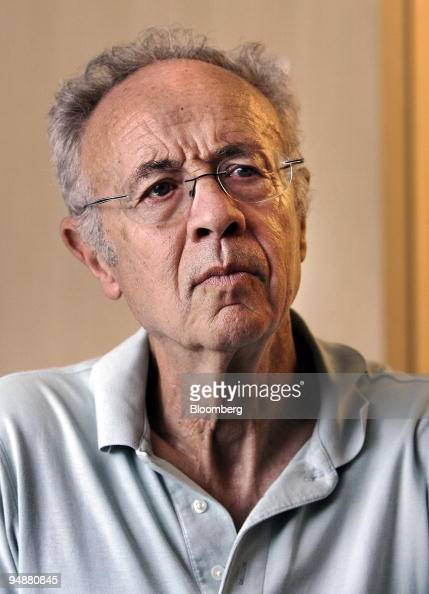 Andrew 'Andy' Grove cofounder and senior adviser to Intel Corp listens during an interview in his office in Los Altos California US on Tuesday July 8...